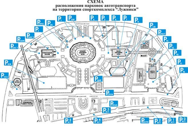 Схема парковок
